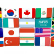 Great twenty flags — Stock Photo #10367050