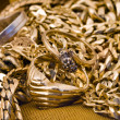 Stock Photo: Golden necklages