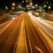 Front light trails — Stock Photo