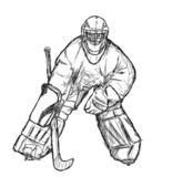 Hockey player — Stock Photo