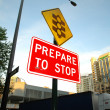 Stock Photo: Prepare to stop