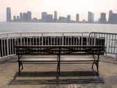 Jersey city from manhattan — Stock Photo