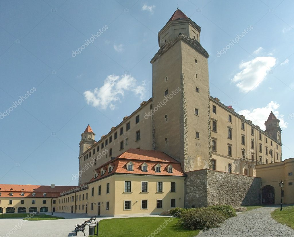 Photo of bratislava castle, no are visible, — Stock Photo #8674664