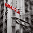 Red broadway sign — Stock Photo