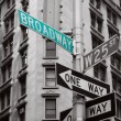 Stock Photo: Green broadway sign