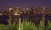 Manhattan de nuit — Photo