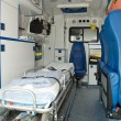 Ambulance car interior — Stock Photo