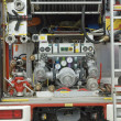 Feuer LKW-detail — Stockfoto