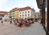 Plaza del mercado en bratislava — Foto de Stock