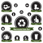 conjunto de iconos reciclaje — Vector de stock