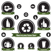 återvinning ikonuppsättning — Stockvektor