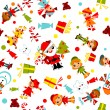 Stock Vector: Christmas wallpaper. kids