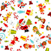 Christmas wallpaper. kids — Stock Vector