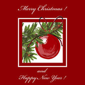 Palla di Natale — Vettoriale Stock