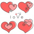 Royalty-Free Stock Vector Image: Valentines set hearts