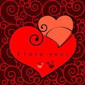Valentine harten — Stockvector