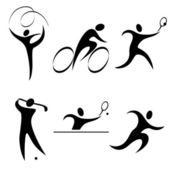 Set sports icon — Stock Vector