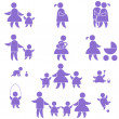Royalty-Free Stock : Family icon. set