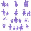 Royalty-Free Stock Vectorafbeeldingen: Family icon. set