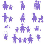 Family icon. set — Stock Vector