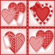 Set of Valentines cards — Stock Vector