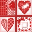 Stock Vector: Set of Valentines cards