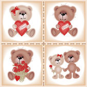 Teddy Bear with heart — Stock Vector