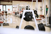 Gym and stationary equipment — Stock Photo