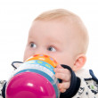Baby boy with a toy — Stock Photo