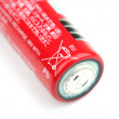 Stock Photo: Battery labelled with crossed out wheeled bin symbol