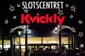 Shopping center Slotscentret and supermarket Kvickly — Stock Photo