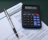 Tax return — Zdjęcie stockowe