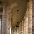 Colonnade around St Peters Square — Stock Photo