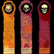 Vertical Halloween Banners — Stock Vector