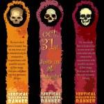 Vertical Halloween Banners — Stock Vector