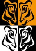 Pop-art tiger — Stock Vector