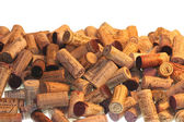 Pile of wine corks used — Stock Photo