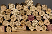 Pile of wine corks vintage — Stock Photo
