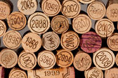 Pile of wine corks — Stock Photo