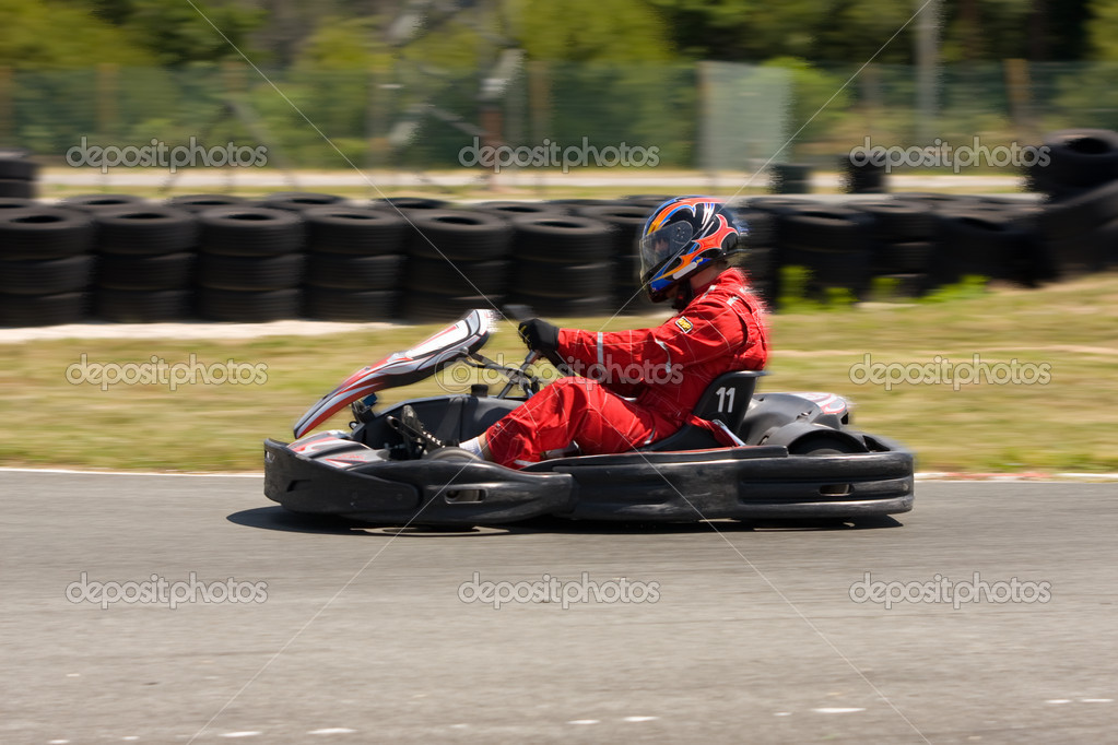 Karting race — Stock Photo #8368175