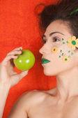 Orange apfel — Stockfoto