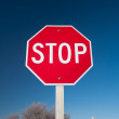 Desert Stop Sign — Stock Photo