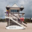 Stock Photo: Lifeguard Shack
