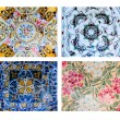 Gaudi mosaic postcard, different pieces — Stock Photo