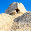 Sculpture on the top of Casa Mila by Antonio Gaudi - Stock Photo