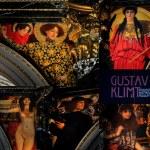 Постер, плакат: Collection of Gustav Klimt fresque in KHM Museum Kunsthistorisches Museum in Vienna