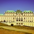 Belevedere palace in Vienna, retro postcard — Stock Photo