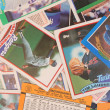 Scattered Baseball Cards — ストック写真