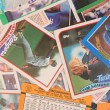 Stockfoto: Scattered Baseball Cards