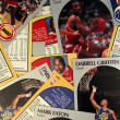Scattered Basketball Cards — Stock Photo #8407744